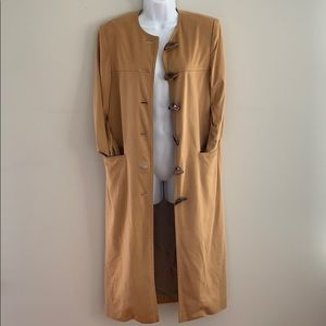 Cream Suede Trench with Unique Buttons Size S/M